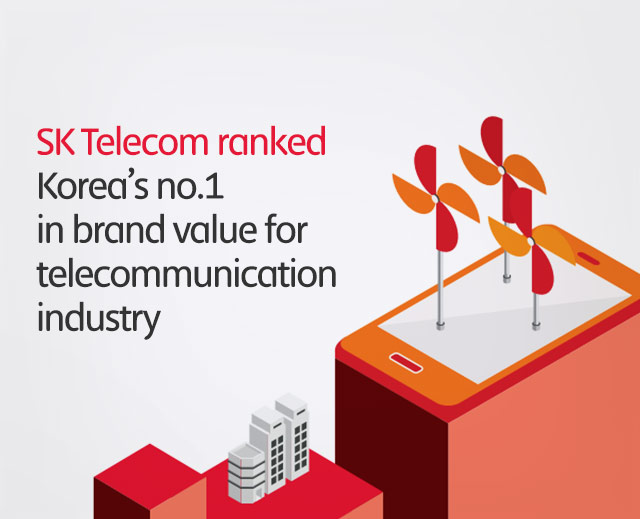 SK Telecom ranked Korea's no.1 in brand value for telecommunication industry